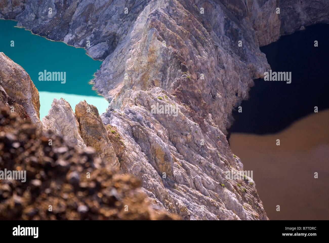 Keli Mutu volcano Stock Photo