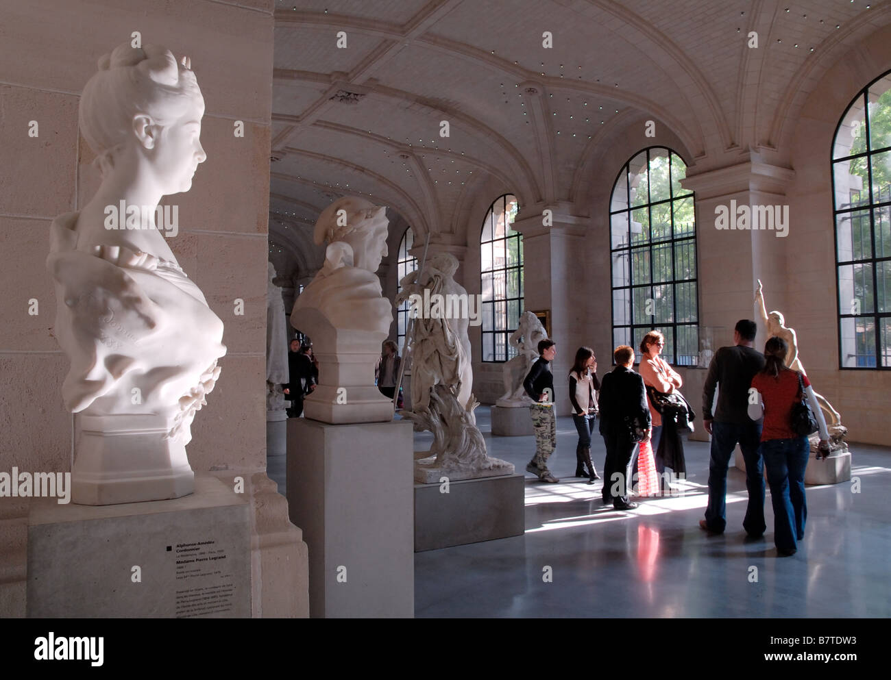 Sculpture gallery in the Palais des Beaux Art, Lille, France Stock Photo