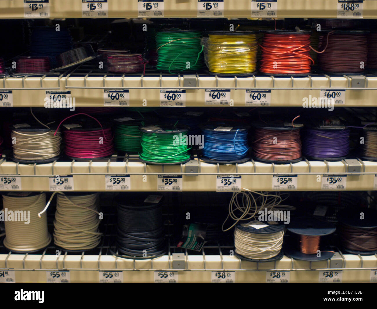 Marvelous Spooled Electrical Wiring On Display For Sale At A Home Improvement Wiring Database Liteviha4X4Andersnl