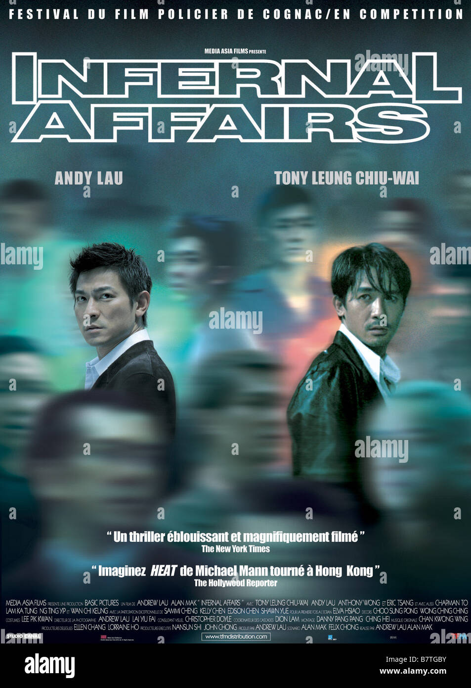 Infernal Affairs Mou gaan dou Year: 2002 Hong Kong Director: Wai Keung Lau, Siu Fai Mak  Movie poster (Fr) - Stock Image