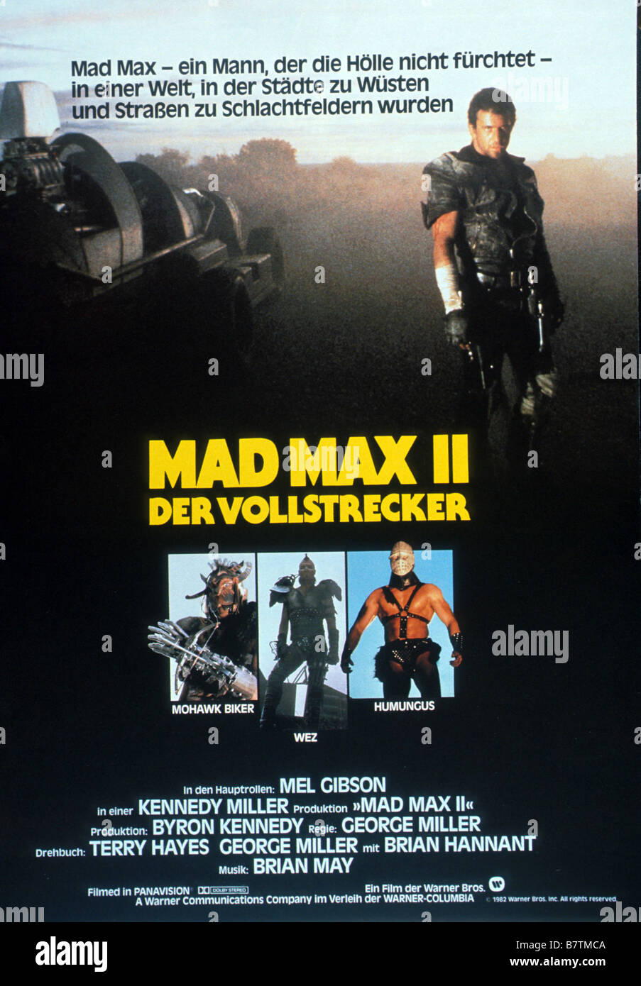 Mad Max 2: The Road Warrior  Year: 1981 - Australia Director: Mel Gibson George Miller Movie poster (Ger) Stock Photo
