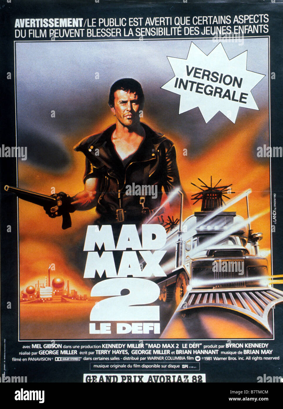 Mad Max II: The Road Warrior  Year: 1981 - Australia Mel Gibson  Director: George Miller Movie poster (Fr) - Stock Image