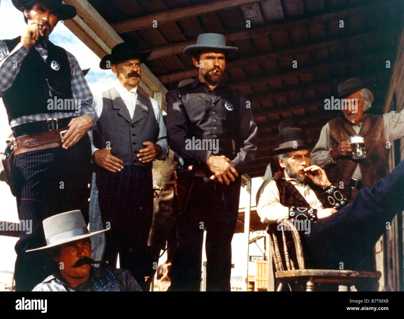 The Life and Times of Judge Roy Bean Year: 1972 USA Steve Kanaly, Jack Colvin, Don Starr, Paul Newman  Director: - Stock Image