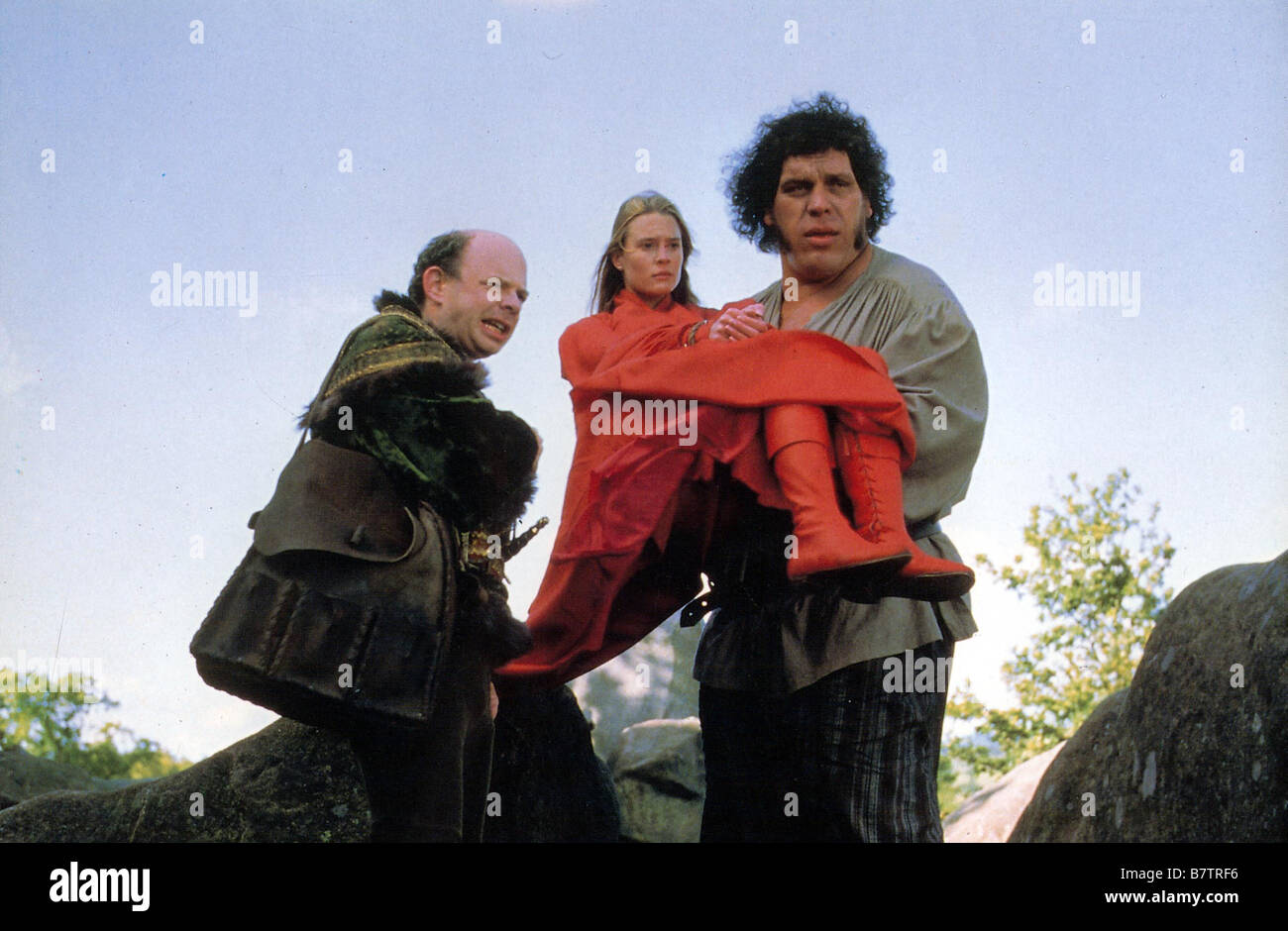 The Princess Bride  Year: 1987 USA Director: Rob Reiner Wallace Shawn, Robin Wright Penn, André the Giant Stock Photo