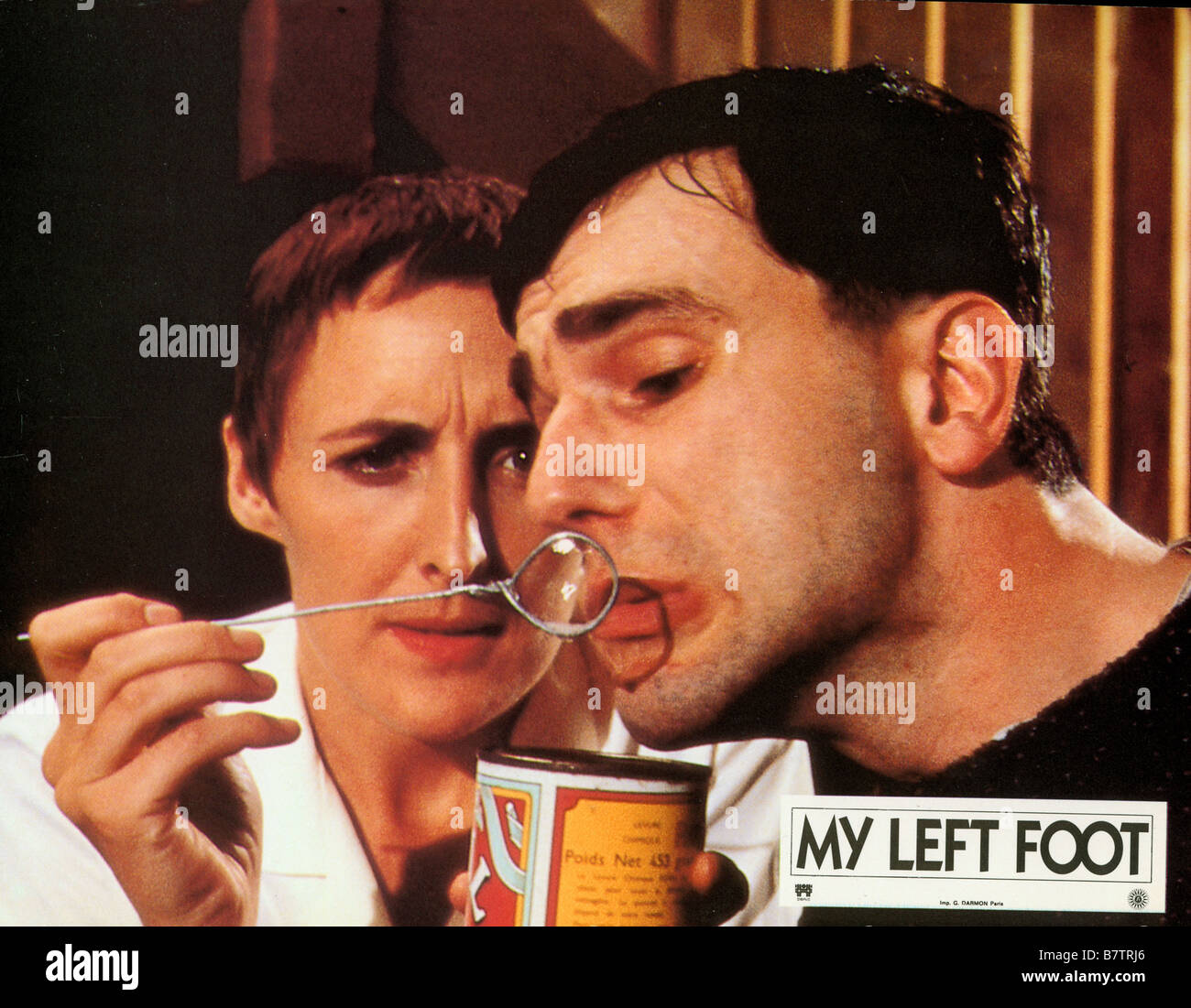 My Left Foot: The Story of Christy Brown  Year: 1989 - Ireland / UK Daniel Day-Lewis , Fiona Shaw  Director: Jim - Stock Image