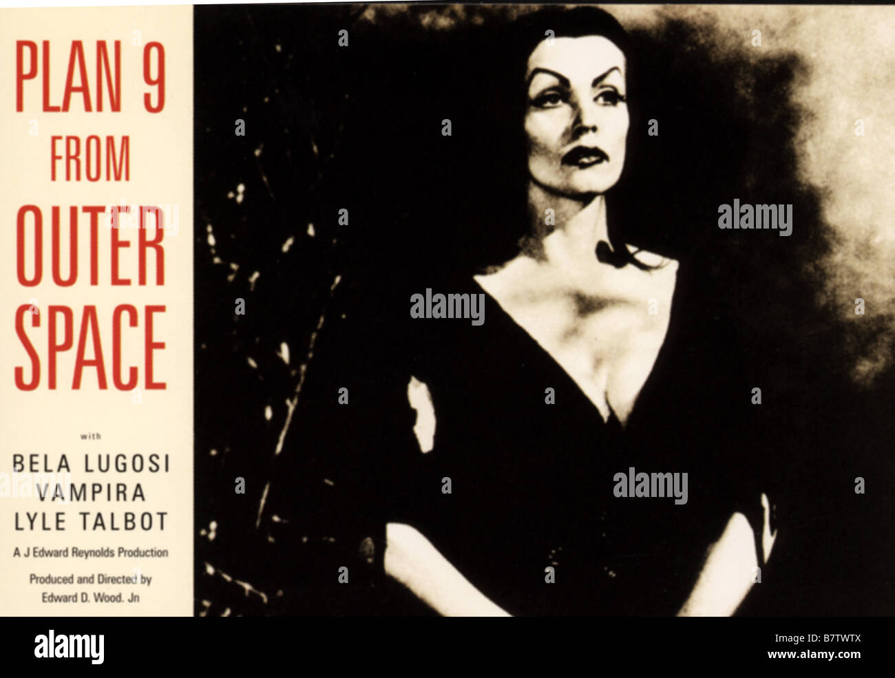 Plan 9 from Outer Space Plan nine from Outer Space  Year: 1959 USA Vampira  Director: Edward D. Wood Jr. - Stock Image