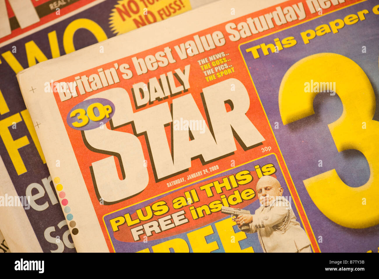 UK newspapers the Daily Star Stock Photo