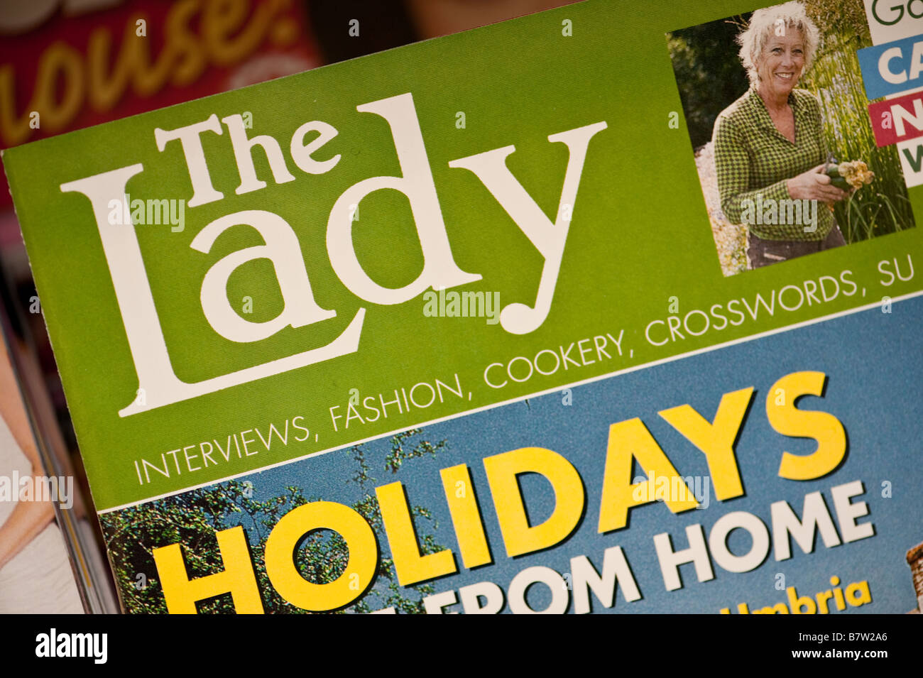 UK Magazine - the front cover of  The Lady in a newsagents shop - Stock Image