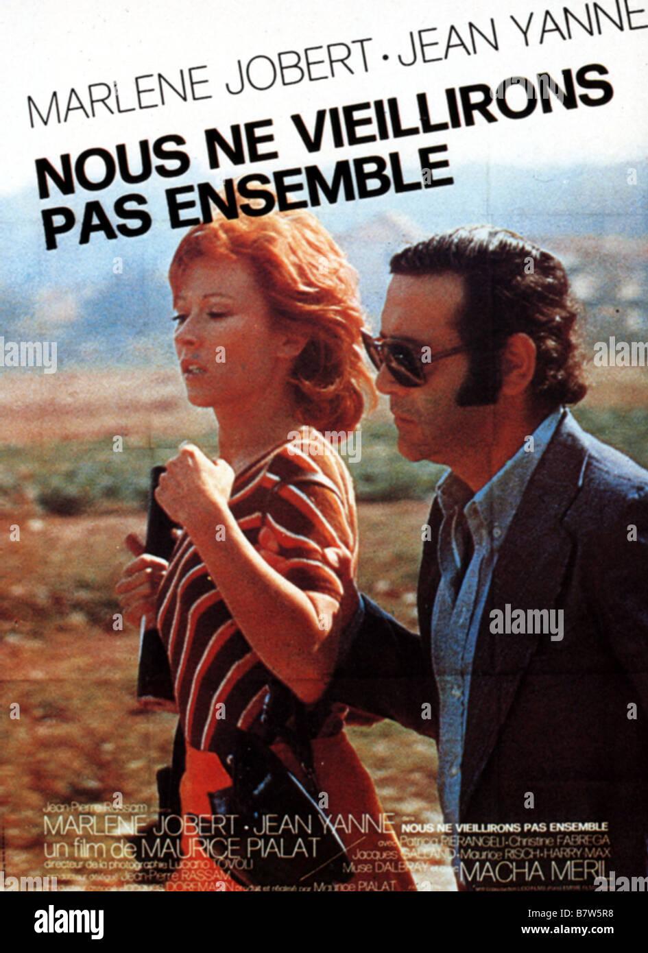 Nous Ne Vieillirons Pas Ensemble Year 1972 France Director Stock Photo Alamy