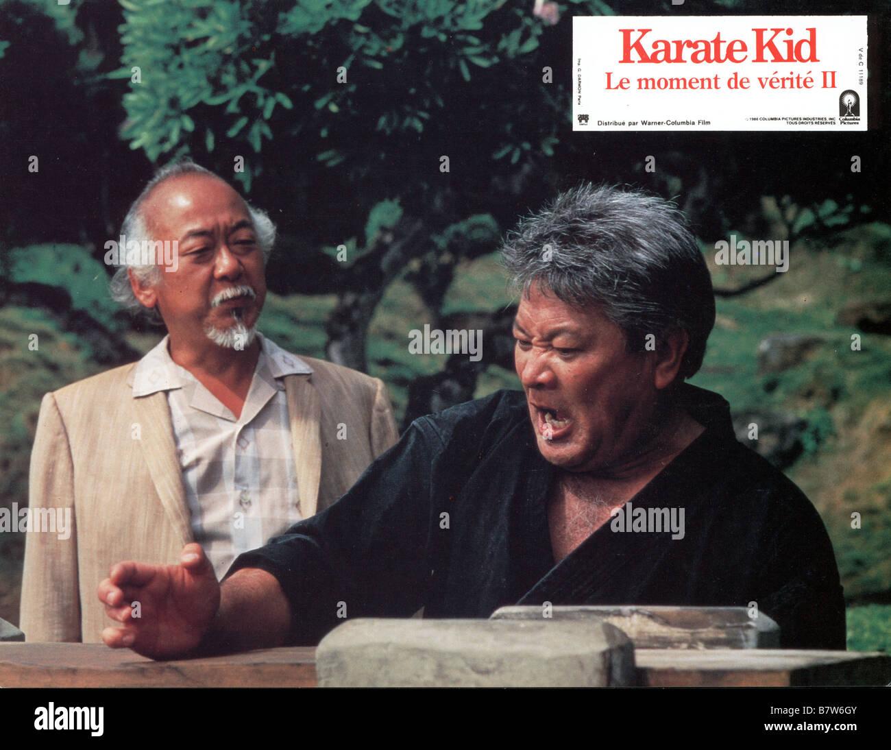 The Karate Kid Year: 1984 USA Pat Morita  Director: John G. Avildsen - Stock Image