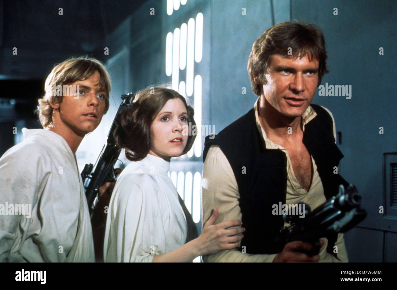 Star Wars: Episode IV - A New Hope Year: 1977 USA Mark Hamill, Carrie Fisher, Harrison Ford  Director: George Lucas - Stock Image
