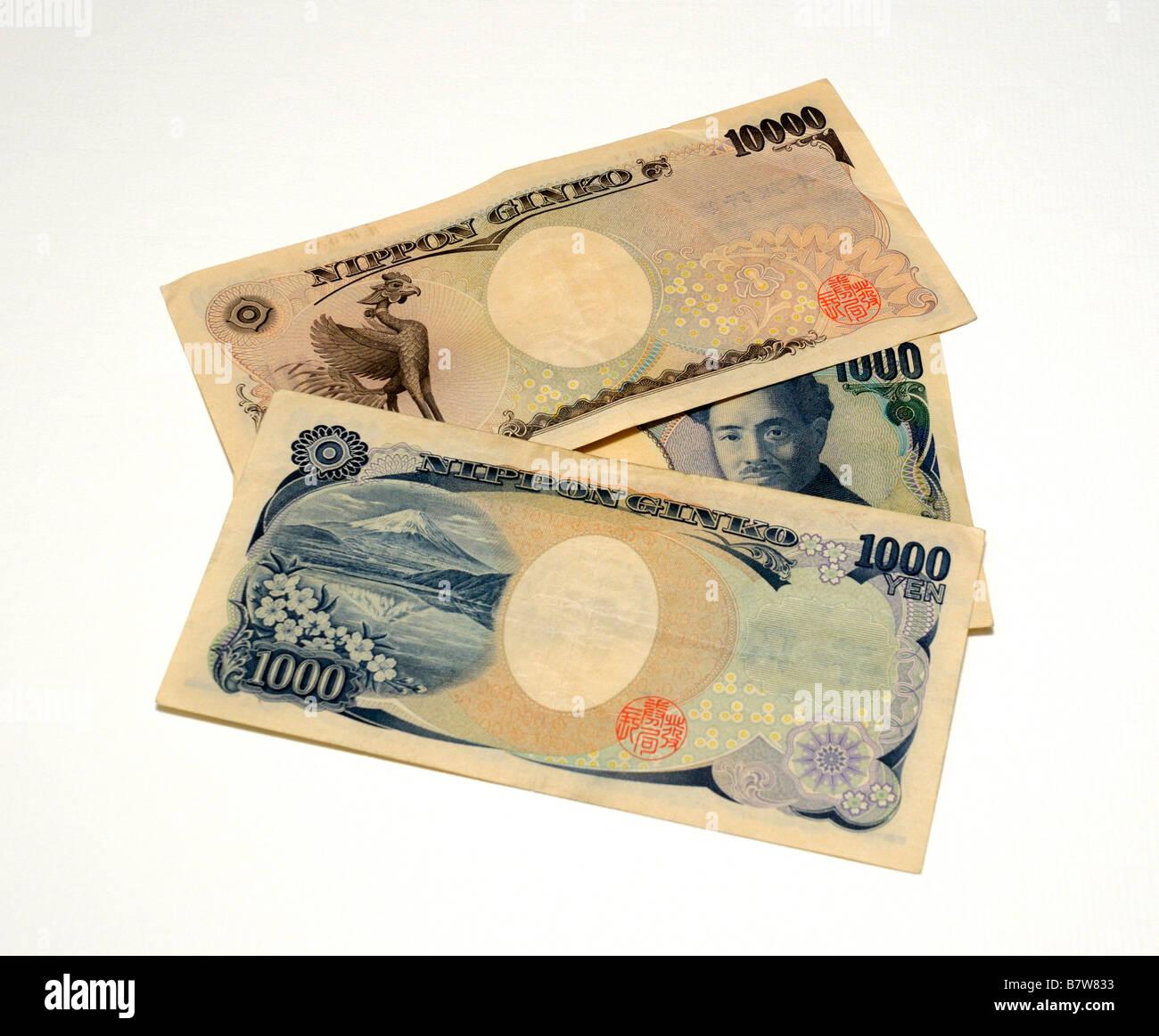 Japan Bank Notes - Stock Image