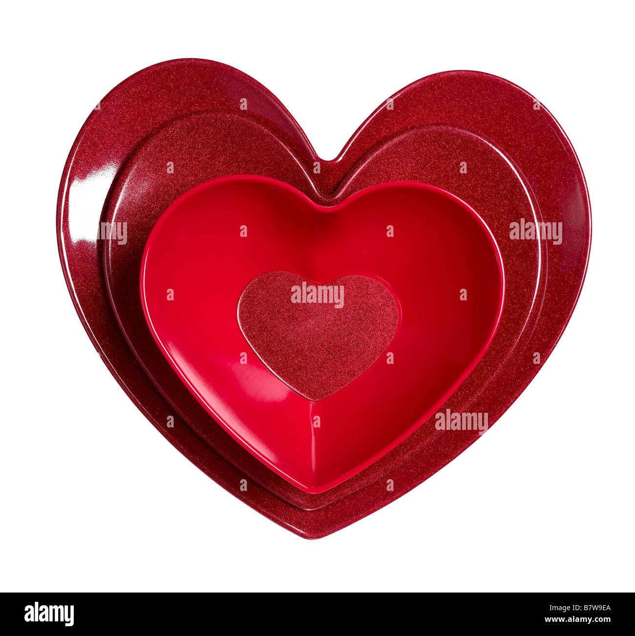 Valentine Platters - Stock Image