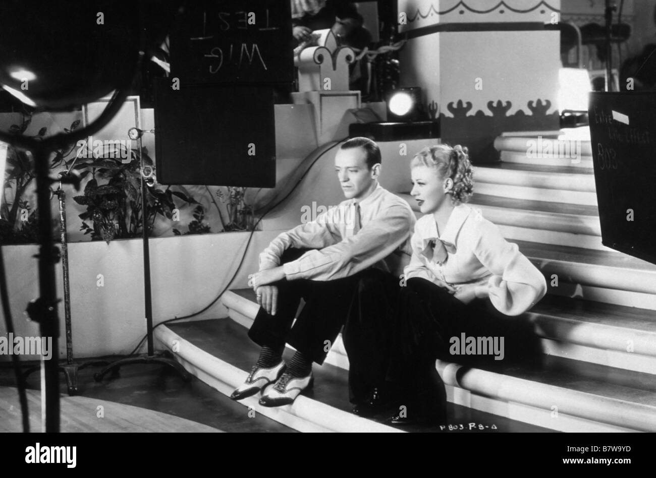 Roberta Roberta  Year: 1935 USA Fred Astaire, Ginger Rogers sur le tournage, on the set  Director: William A. Seiter - Stock Image