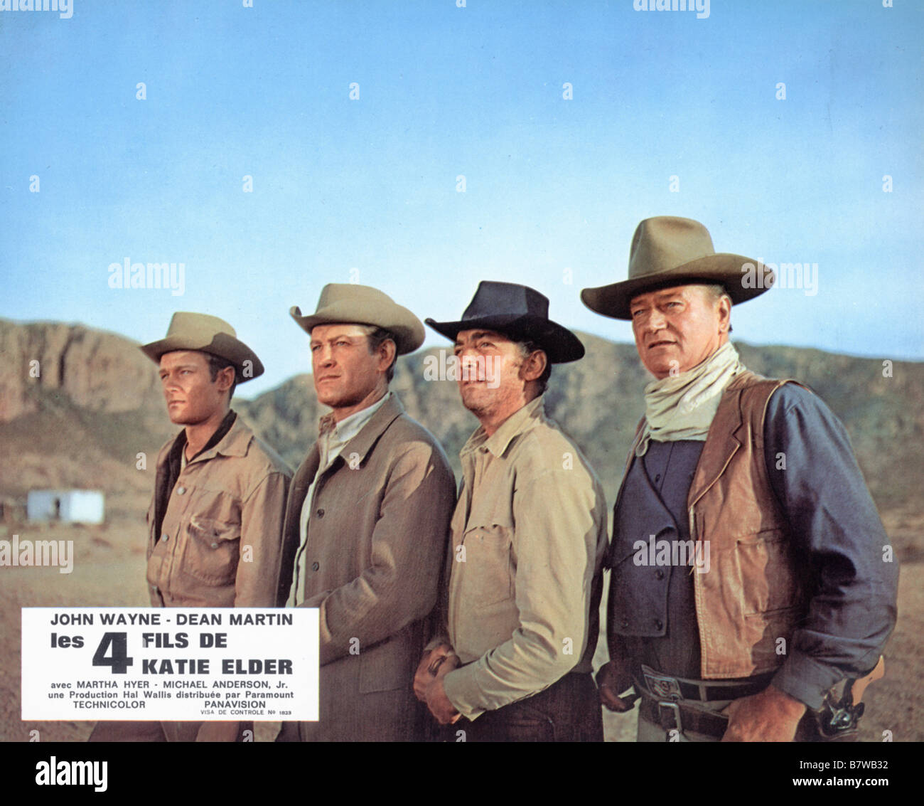 The Sons of Katie Elder  Year: 1965 USA John Wayne, Dean Martin, Michael Anderson Jr, Earl Holliman  Director: Henry - Stock Image