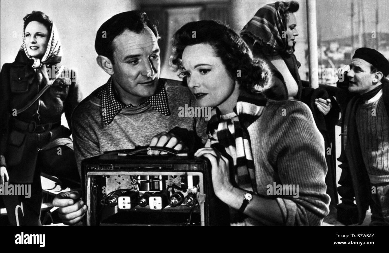 odette agent S-23 Odette  Year: 1950 - UK Anna Neagle  Director : Herbert Wilcox - Stock Image