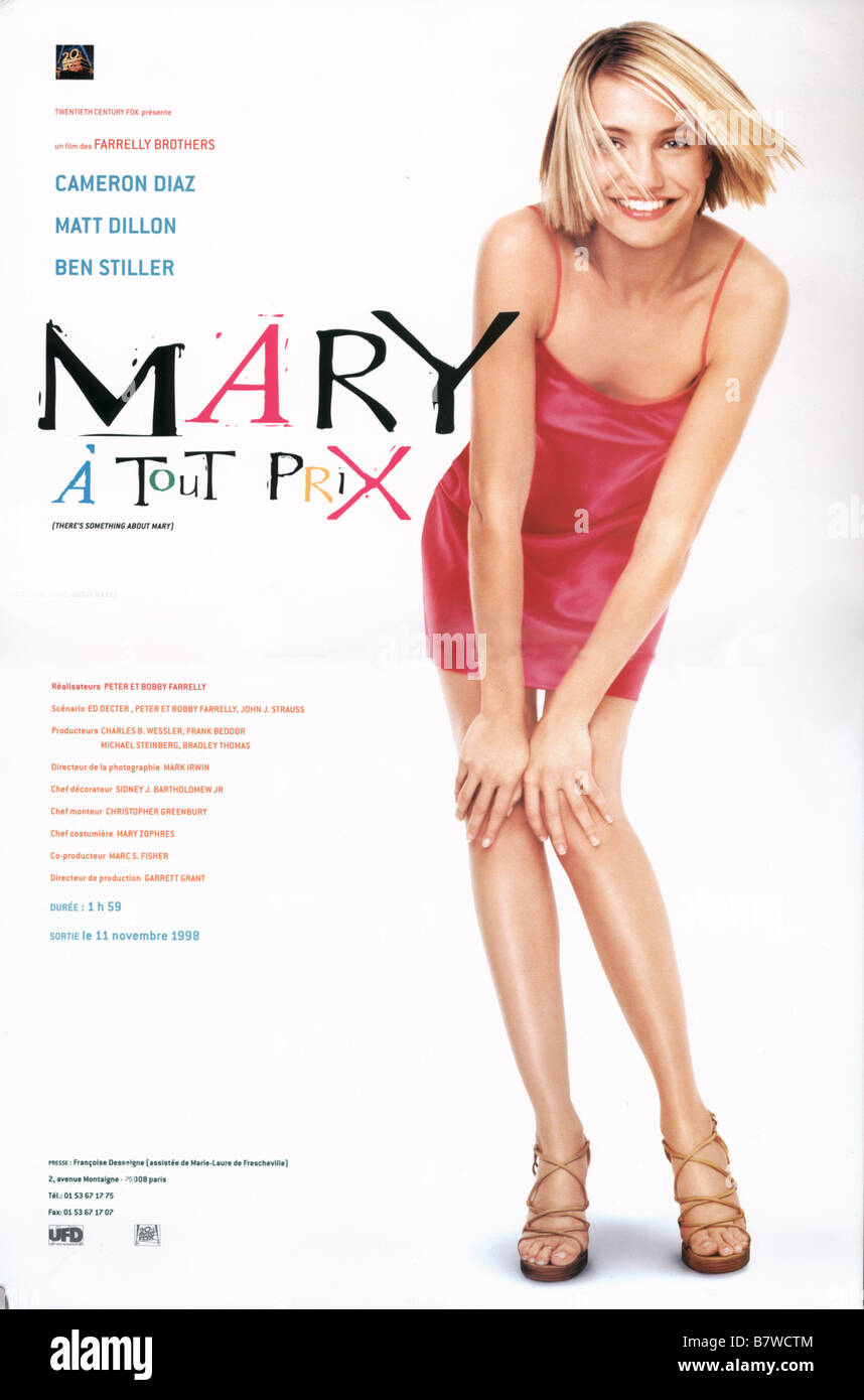 There's Something About Mary  Year: 1998  USA Cameron Diaz  Director: Bobby Farrelly, Peter Farrelly Movie poster - Stock Image