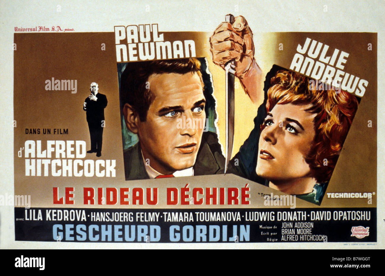 Torn Curtain  Year: 1966 USA Director: Alfred Hitchcock Movie poster (Bel) - Stock Image