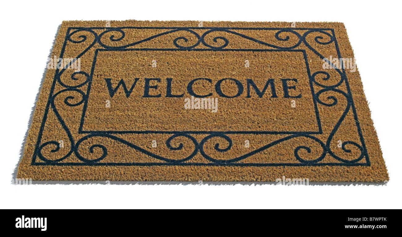 Welcome Door mat Stock Photo