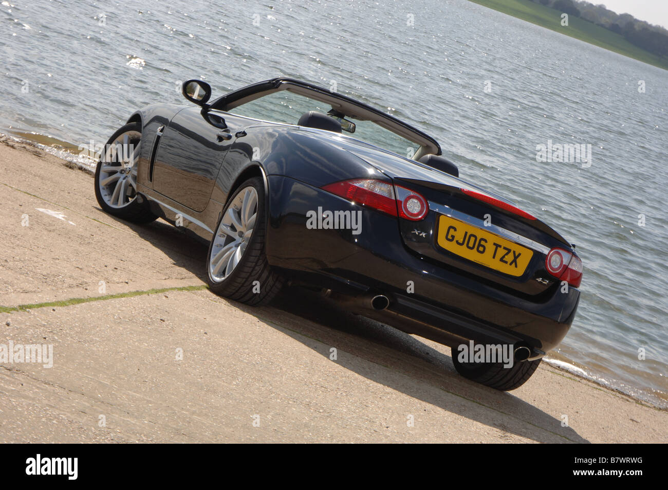 2006 Jaguar XK luxury sports car convertible - Stock Image