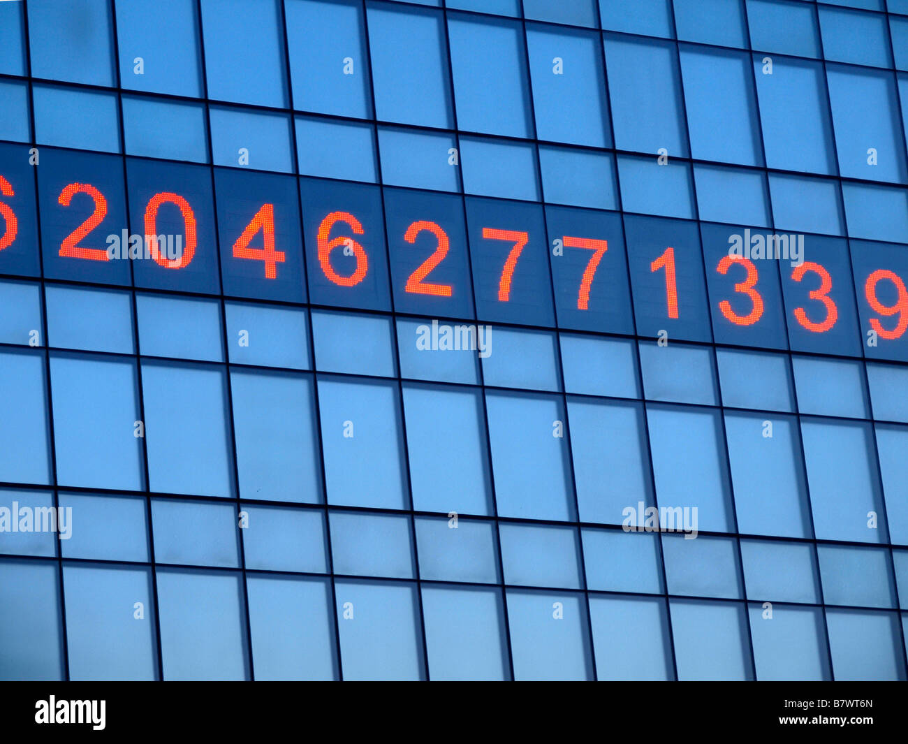 'The Metronome,' an installation artpiece and clock by Kristin Jones on the side of One Union Square in - Stock Image