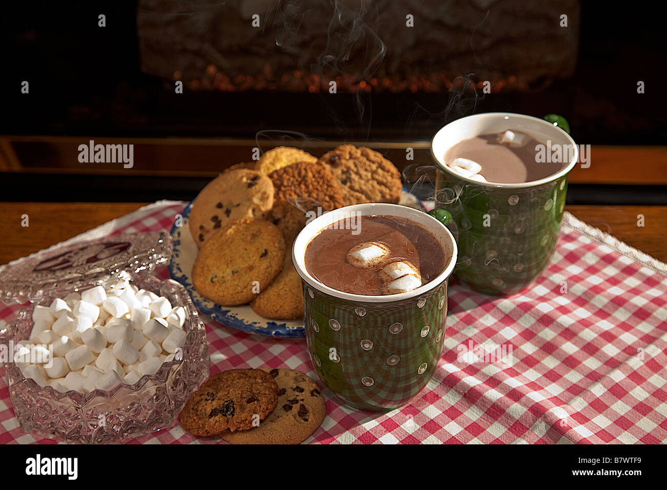 Image result for two cups of steaming hot cocoa