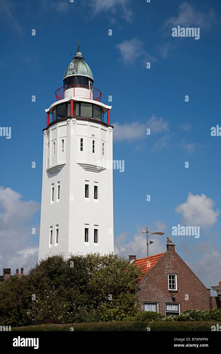 A converted lighthouse used as a hotel Harlingen Friesland Netherlands - Stock Image