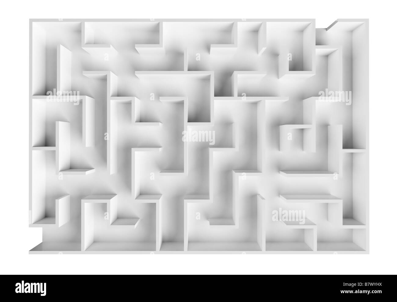 Laboratory labyrinth to examine behavior and intellect of rodents - Stock Image
