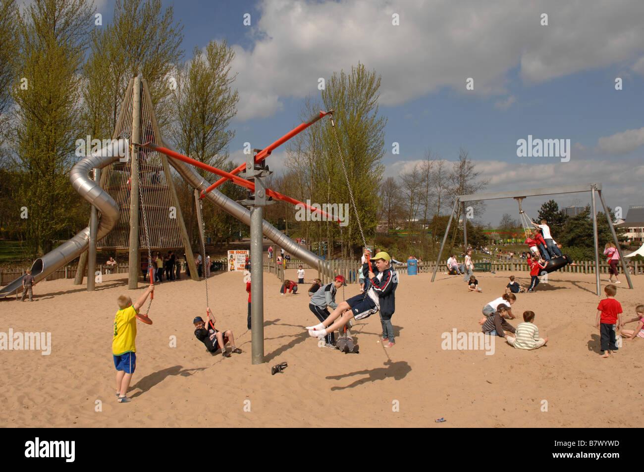 Telford town park shropshire uk england stock photo for Park towne