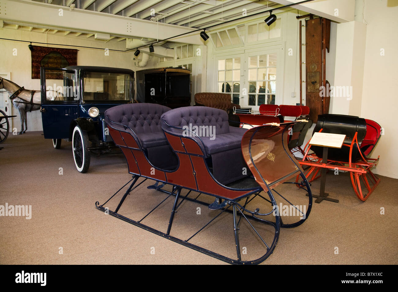 ILLINOIS DeKalb Sleigh antique car and horse drawn carriages in ...
