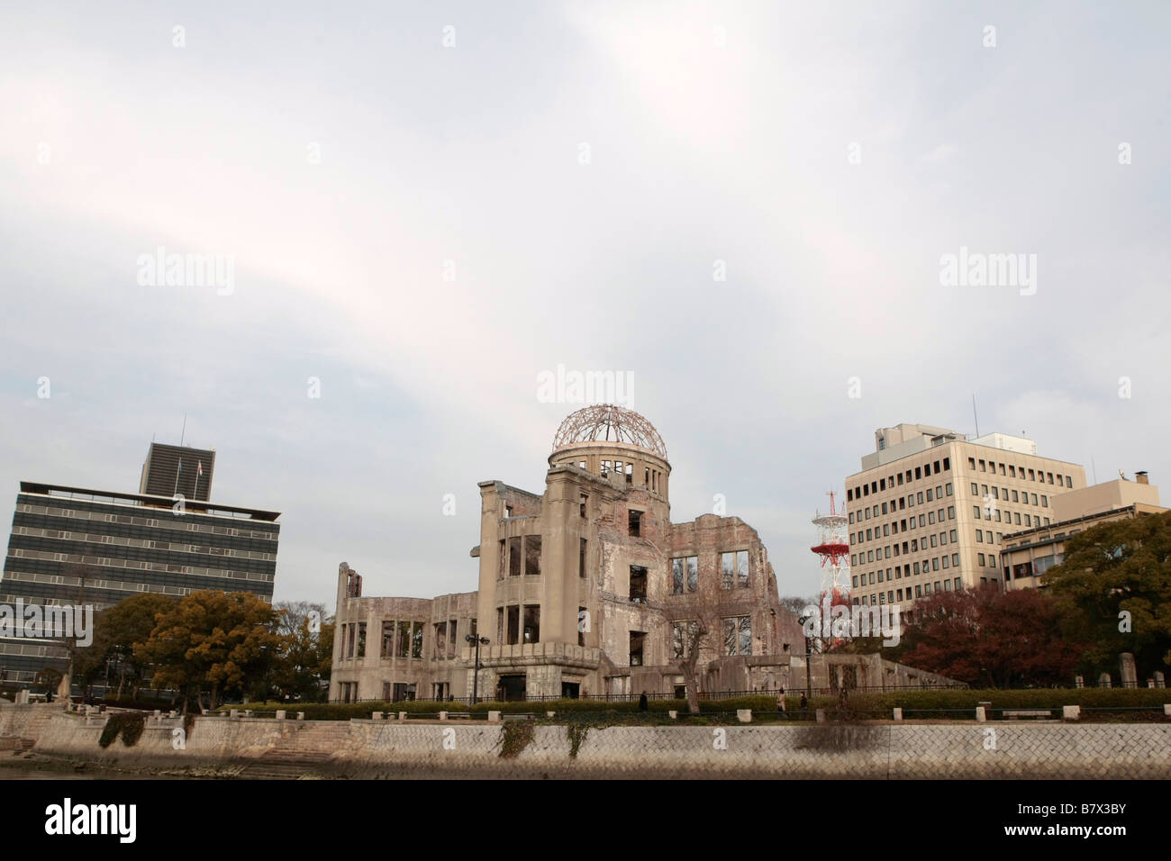 General view of the A-Bomb dome in Hiroshima, Japan. - Stock Image