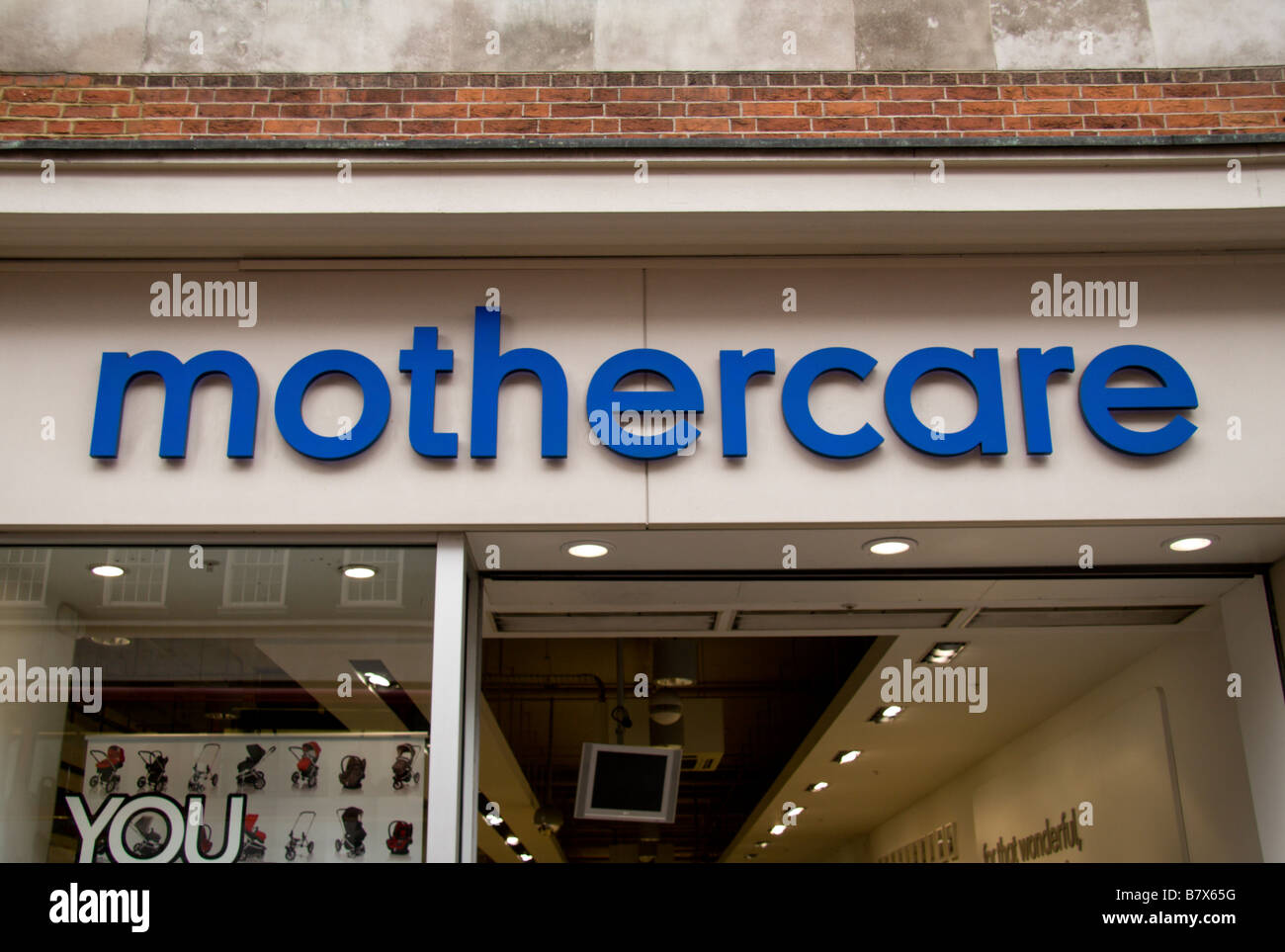 A shop sign above the Mothercare shop in Oxford Street, London. Jan 2009 - Stock Image
