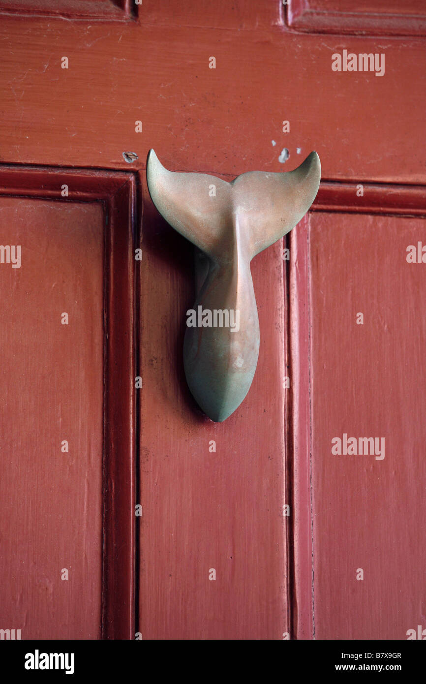 Whale Door Knocker, Nantucket Island, Massachusetts, USA