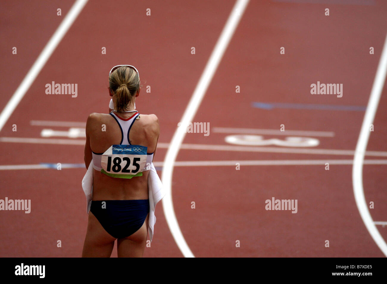 RADCLIFFE Paula GBR AUGUST 17 2008 Athletics after the Womens Marathon at the National Stadium on Day 9 of the Beijing - Stock Image