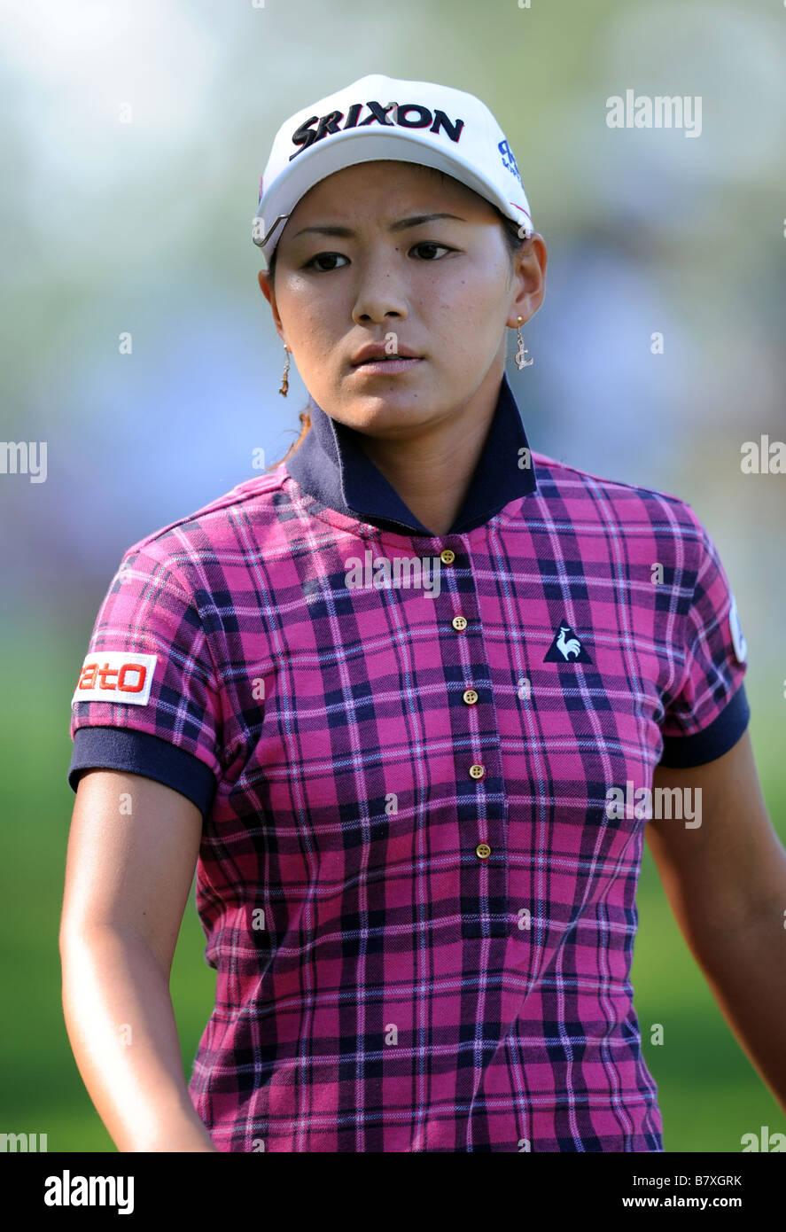 Sakura Yokomine SEPTEMBER 14 2008 Golf LPGA Championship 2008 Konica Minolta Cup at Katayamazu Golf Club Ishikawa - Stock Image