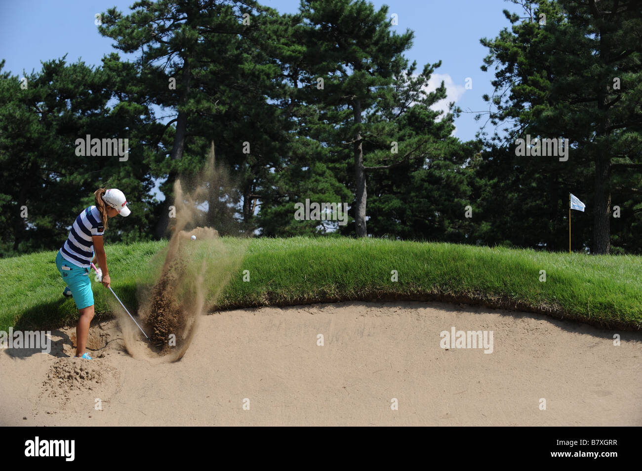 Momoko Ueda SEPTEMBER 14 2008 Golf LPGA Championship 2008 Konica Minolta Cup at Katayamazu Golf Club Ishikawa Japan - Stock Image