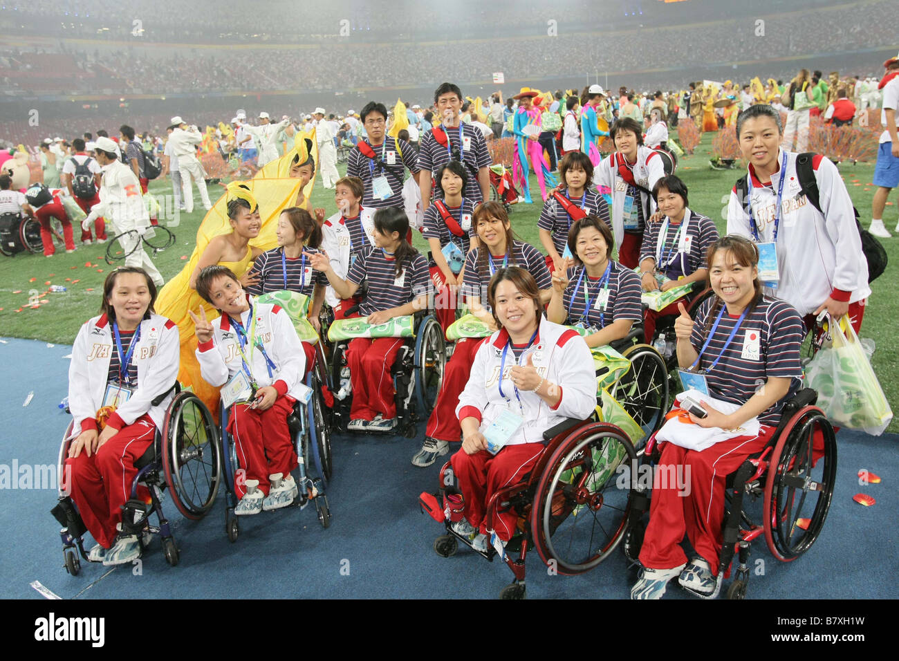 Paralympic Japan Delegation JPN SEPTEMBER 17 2008 Closing Ceremony during the Closing Ceremony for the 2008 Beijing - Stock Image