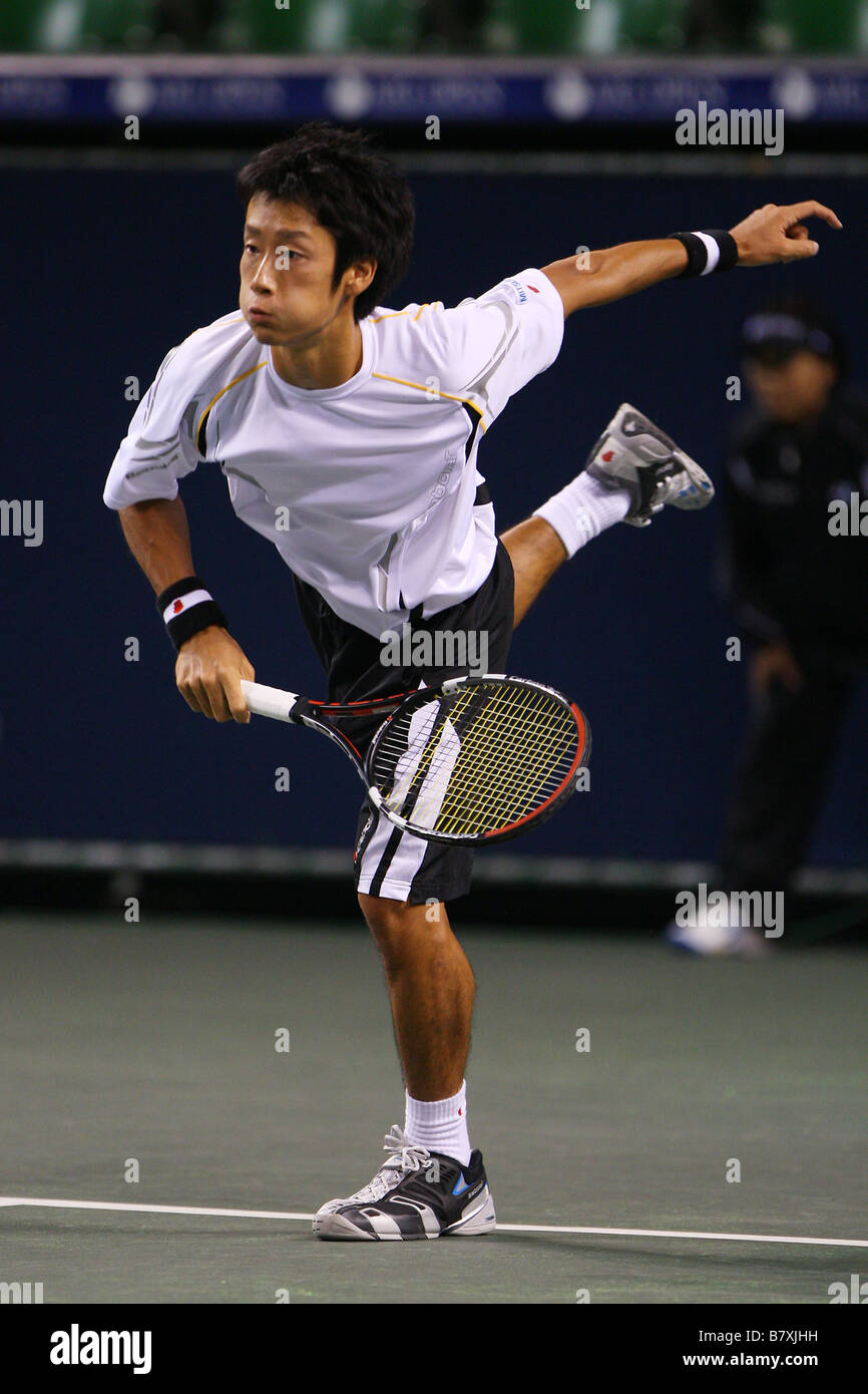 Yuichi Sugita JPN SEPTEMBER 29 2008 Tennis AIG Japan Open Tennis Championships 2008 Mens Singles at Ariake Colosseum - Stock Image