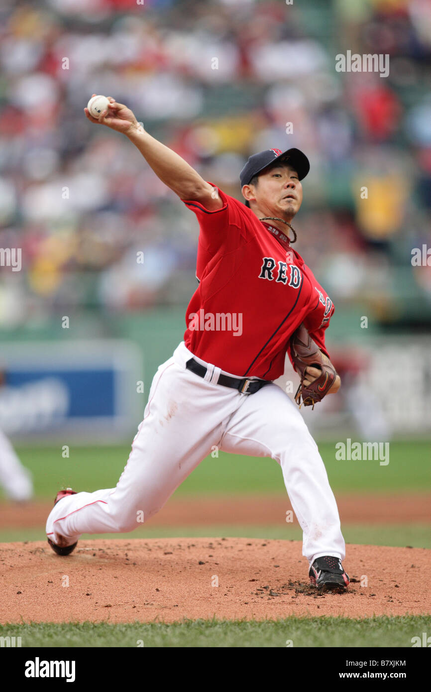ed384472b Boston Red Sox 18 Daisuke Matsuzaka pitches to the New York Yankees at  Fenway Park September