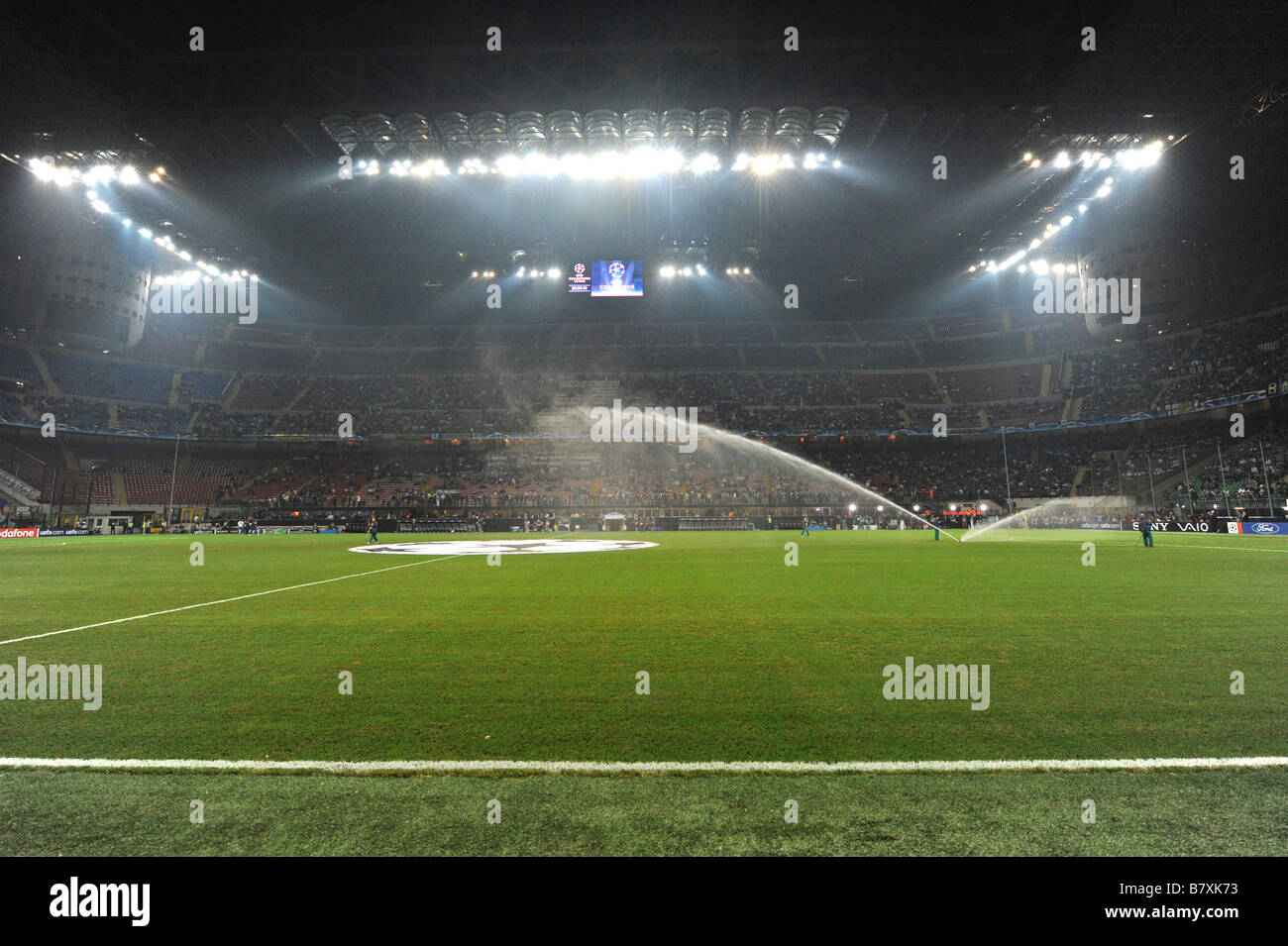 General view OCTOBER 1 2008 Football UEFA Champions League Group B first leg match between Inter Milan and Werder - Stock Image