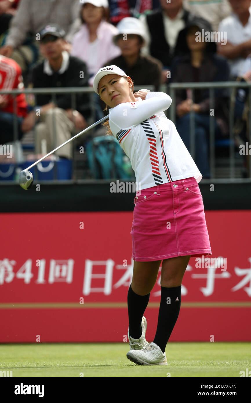 Sakura Yokomine JPN OCTOBER 2 2008 Golf Japan Womens Open Golf Championship 2008 at Shiun Golf Club Niigata Japan - Stock Image