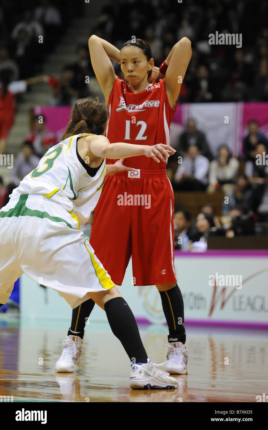 Ryoko Yano Fujitsu OCTOBER 3 2008 Basketball Women s Japan Basketball League 2008 2009 between Fujitsu Redwave 62 - Stock Image