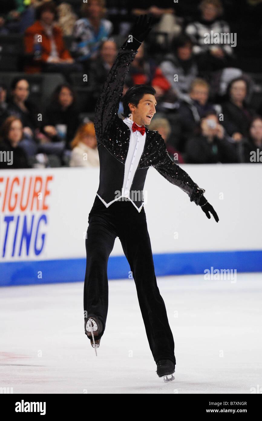 Evan Lysacek USA OCTOBER 25 2008 Figure Skating ISU Grand Prix of Figure Skating 2008 2009 2008 Skate America Mens - Stock Image