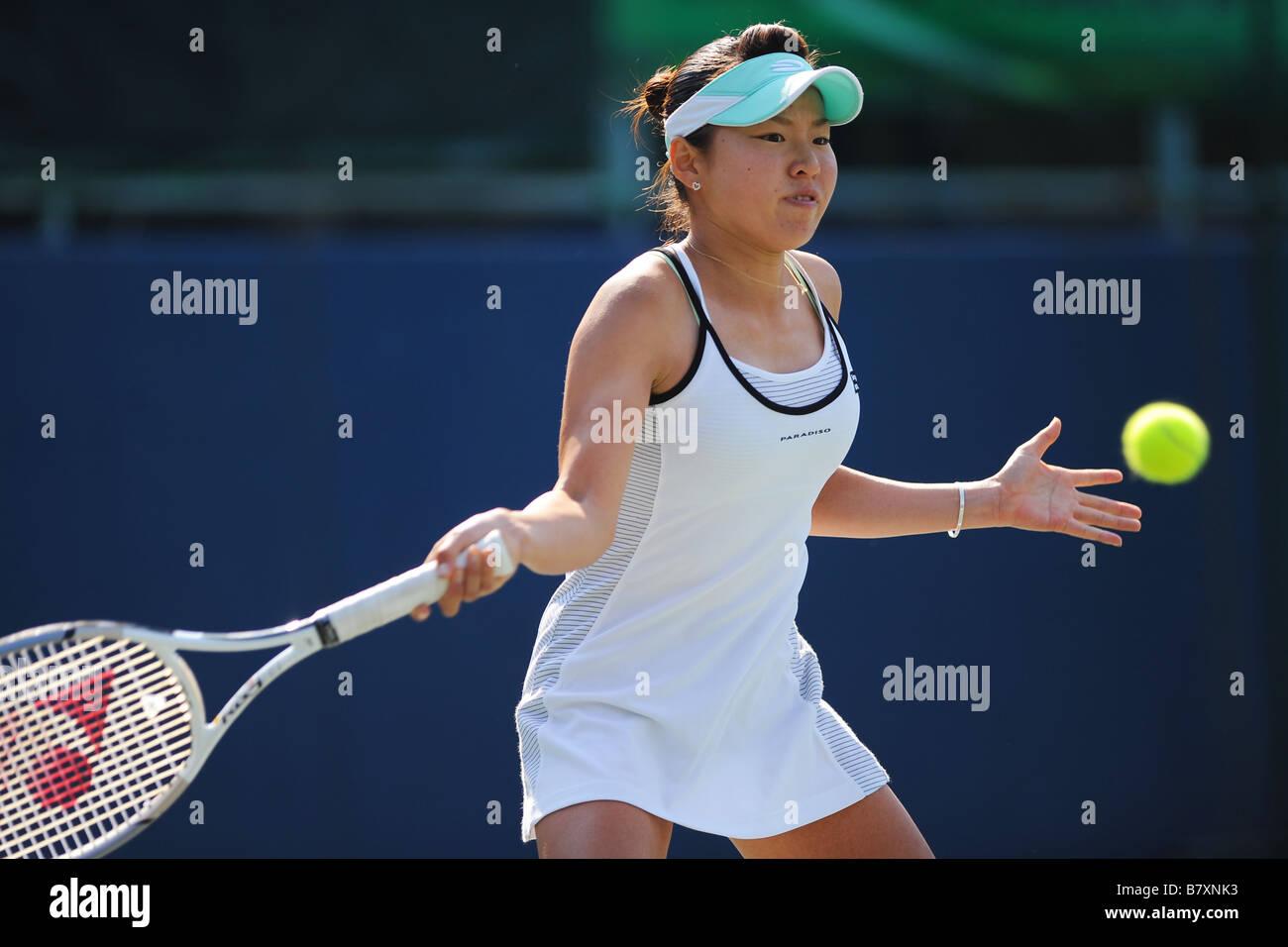 Ryoko Fuda JPN OCTOBER 30 2008 Tennis Tokyo Ariake International Ladies Open Tennis Tournament Singles at Ariake - Stock Image