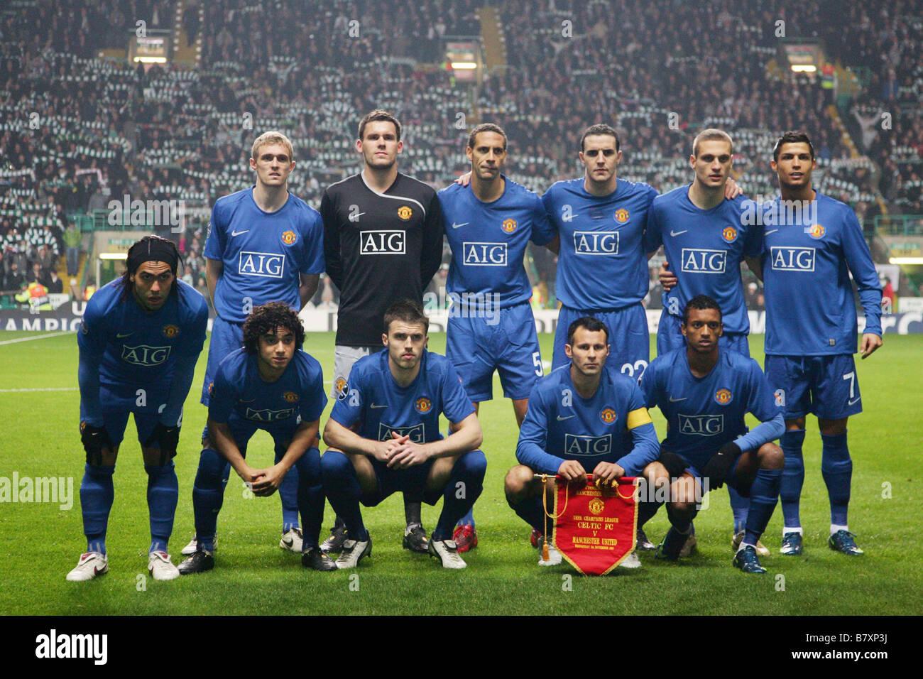 Manchester United Team Group Line Up November 5 2008