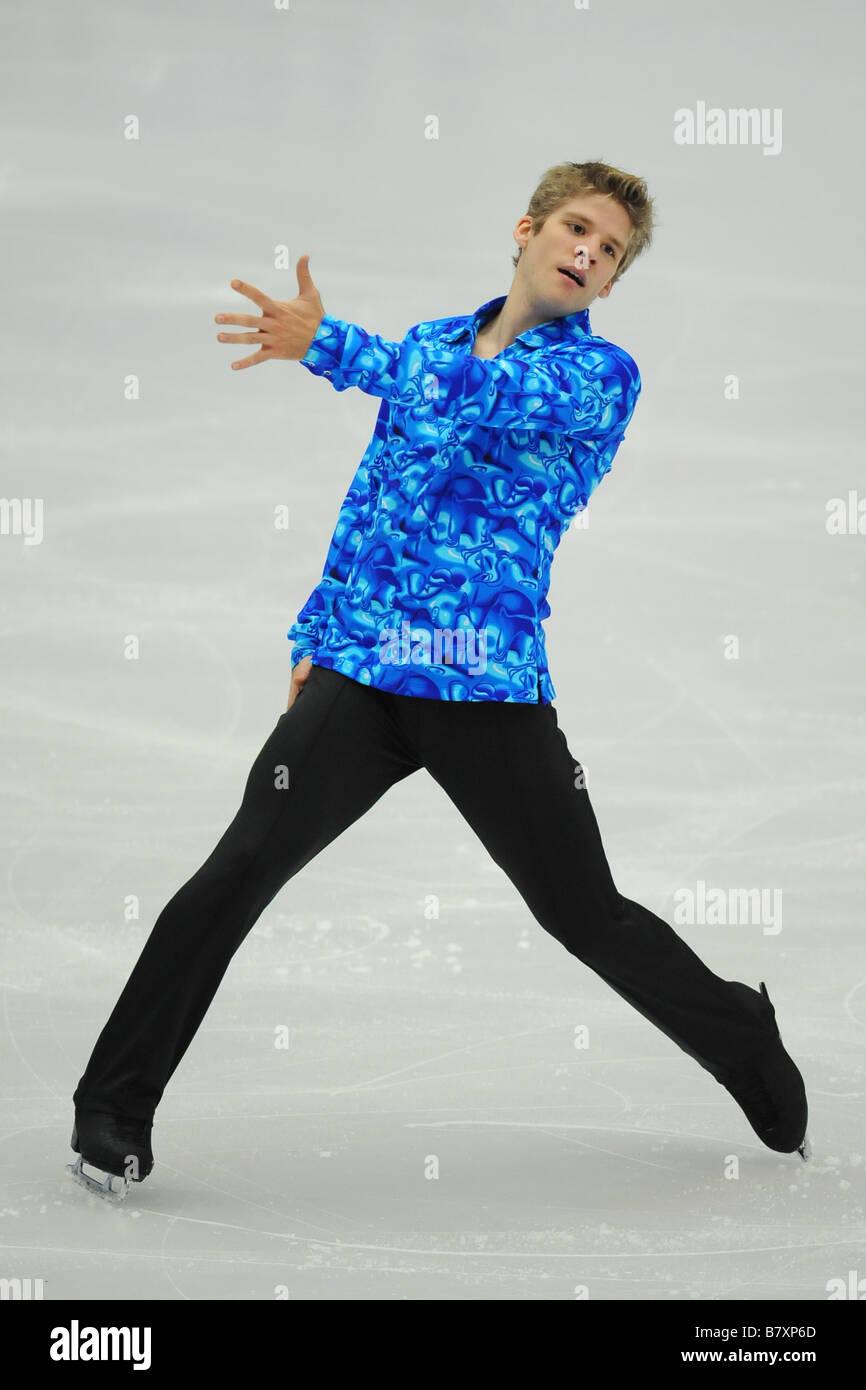 Vaughn Chipeur CAN NOVEMBER 7 2008 Figure Skating ISU Grand Prix of Figure Skating 2008 2009 2008 Skate China Men - Stock Image