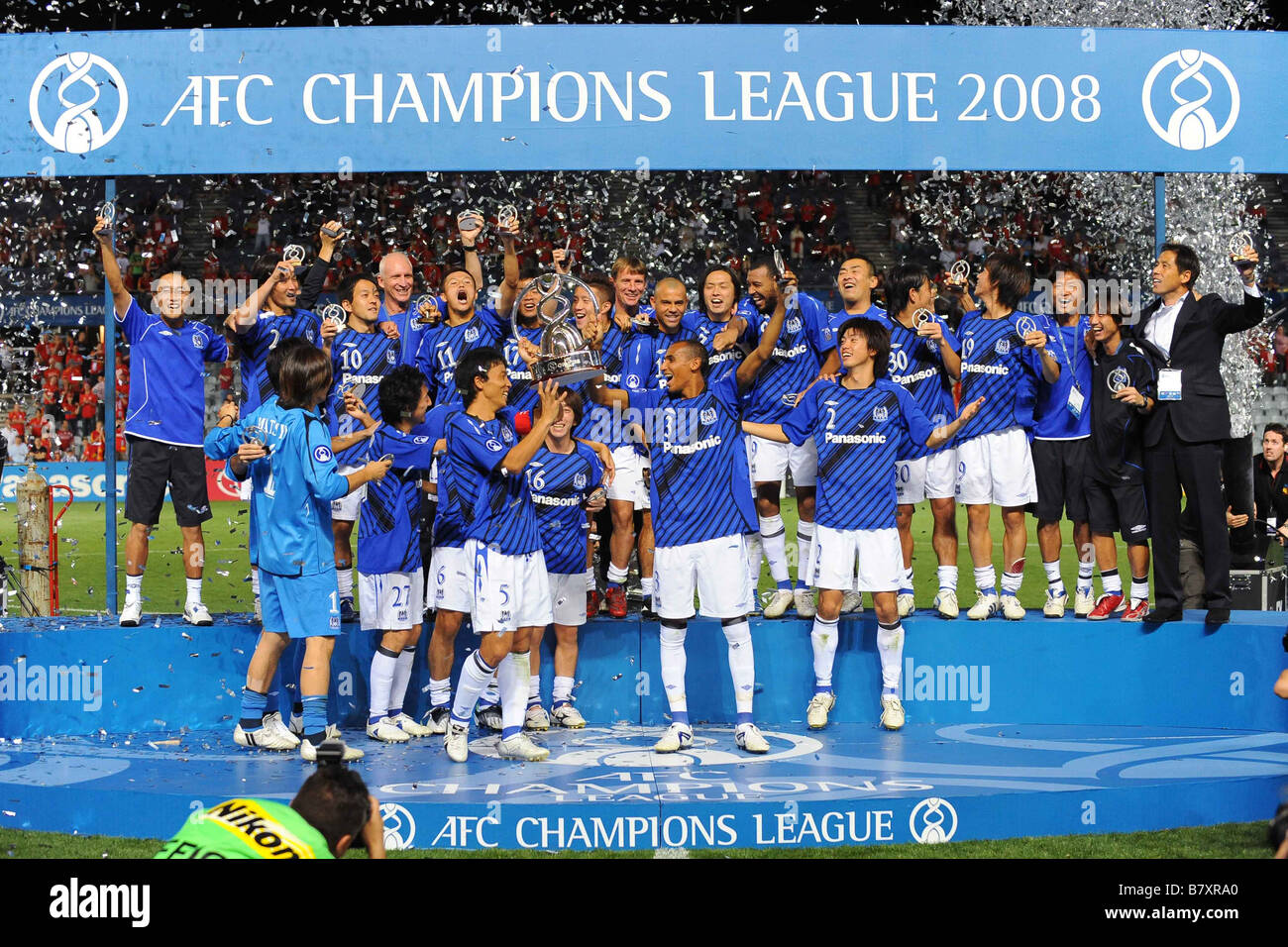 Gamba Osaka Team Group November 12 2008 Football Afc Champions League Stock Photo Alamy