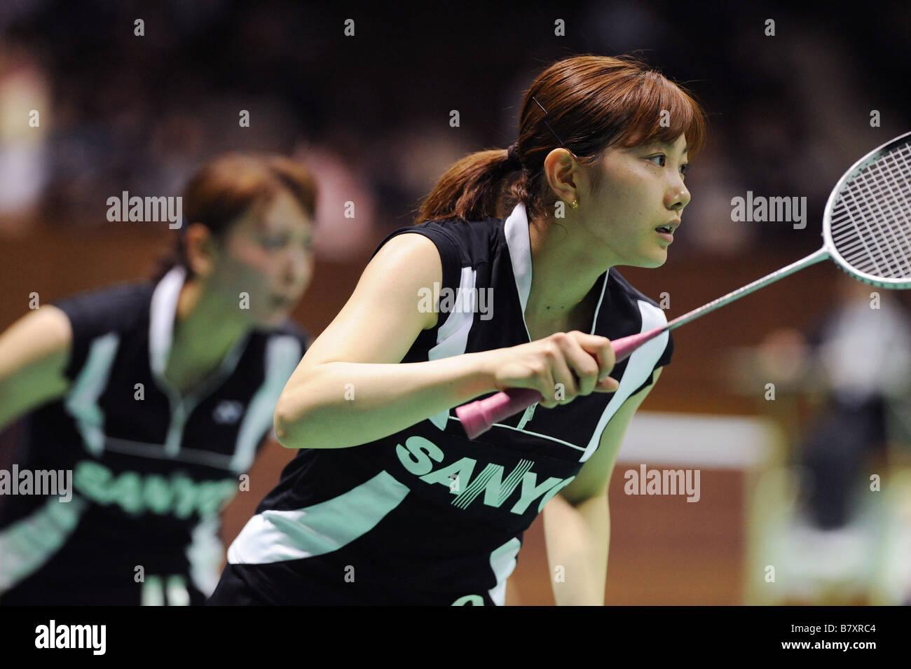L to R Kumiko Ogura Reiko Shiota NOVEMBER 13 2008 Badminton The 62nd All Japan Badminton Championships 2008 at 2nd - Stock Image