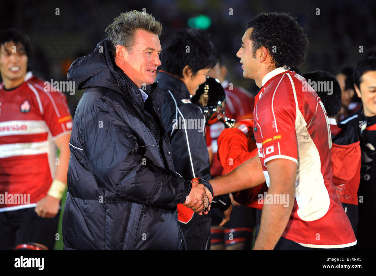 John James Kirwan Head coach JPN Michael Leitch JPN NOVEMBER 22 2008 Rugby Lipovitan D Challenge 2008 match between - Stock Image