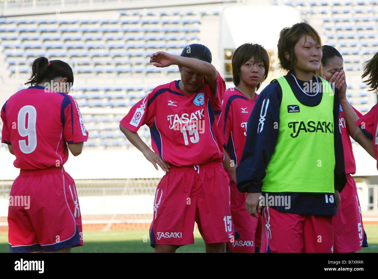 Tasaki Perule team group NOVEMBER 23 2008 Football 2008 NADESHIKO League Division 1 between NTV Beleza 4 1 TASAKI - Stock Image
